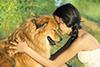 hbsches junges Mdchen mit Elo-Hund